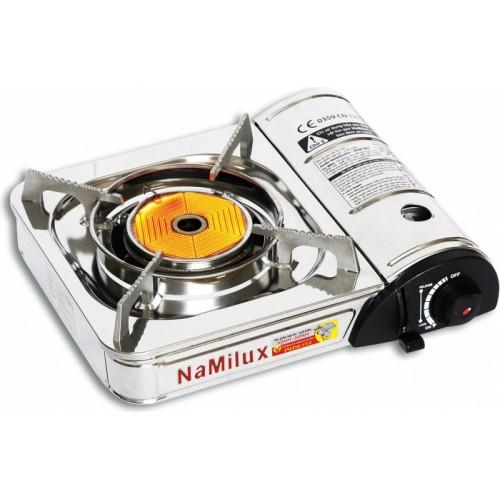 Плита газовая портативная <br> NaMilux NA-161AS <br> хромированный корпус