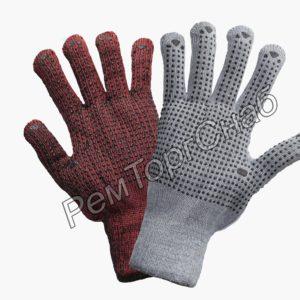 Перчатки акриловые утепленные с ПВХ точка