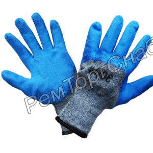 Перчатки серо-синие Тора (пена)