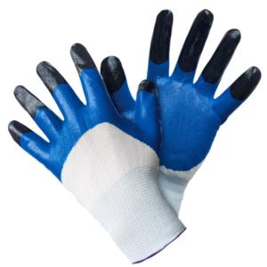 Перчатки нейлон с добавлением резины.