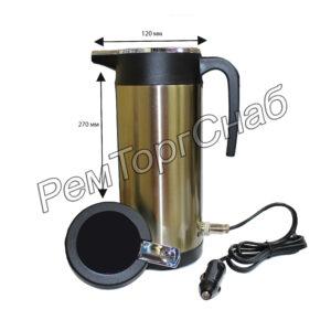 Автомобильный чайник/Термос из нержавеющей стали 1200 ml.(24 вольт)