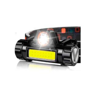Фонарь налобный аккумуляторный Ящерица USB  5W, 2 режима